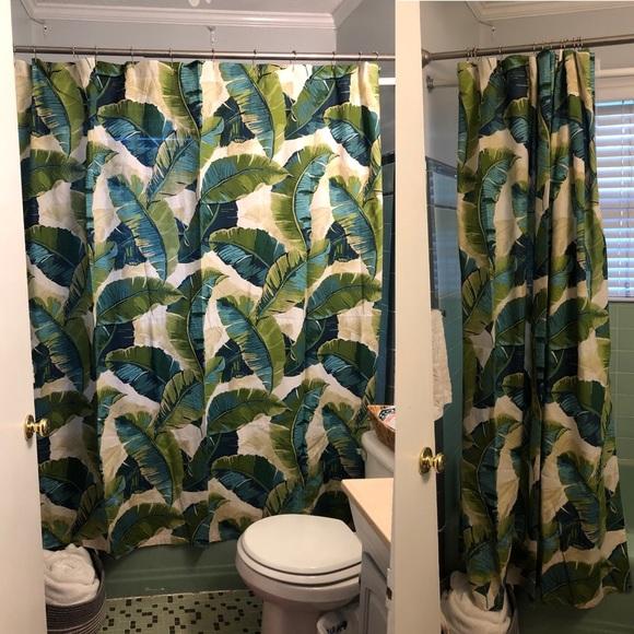 world market banana leaf shower curtain
